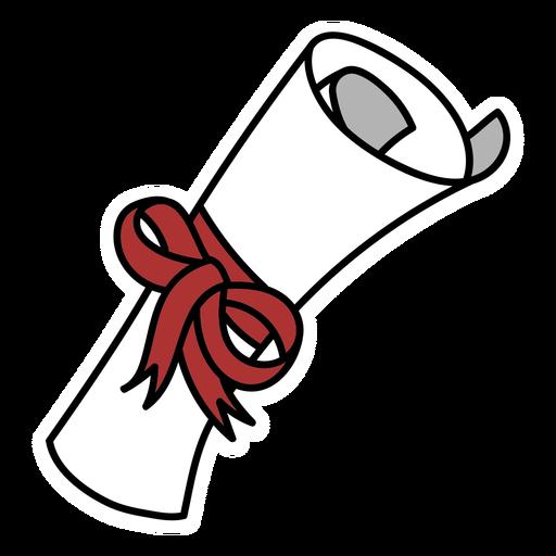Diploma de hilo rojo plano
