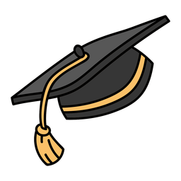Gorra de graduación tradicional plana