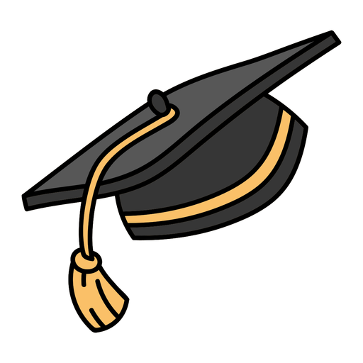 Traditional graduation cap flat Transparent PNG