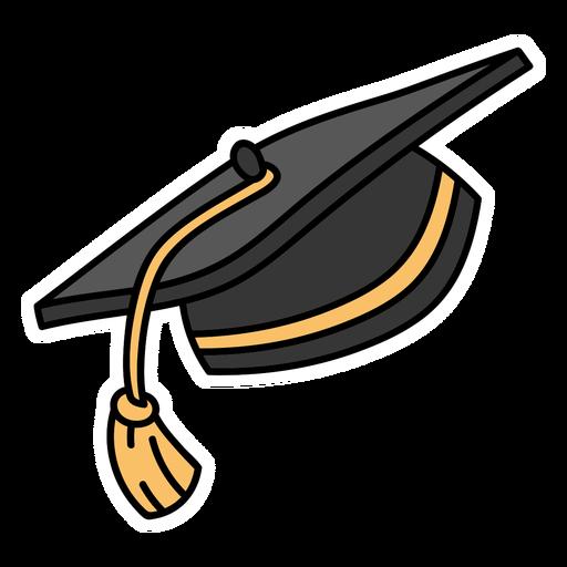 Traditional graduation cap flat