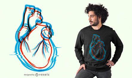 Heartbeats 3D t-shirt design