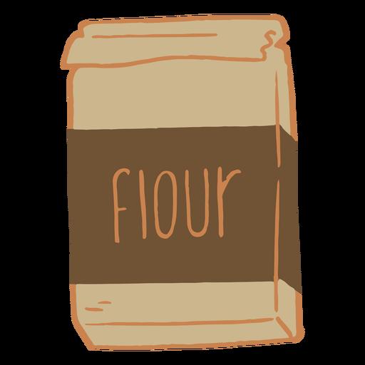 Flour package flat