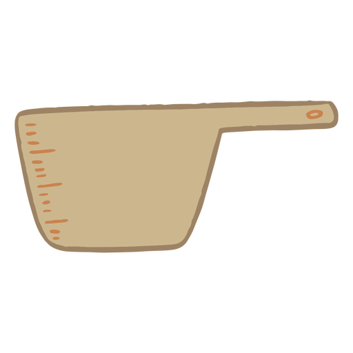 Measuring cup cooking flat