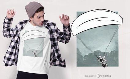 Design de camiseta parapente