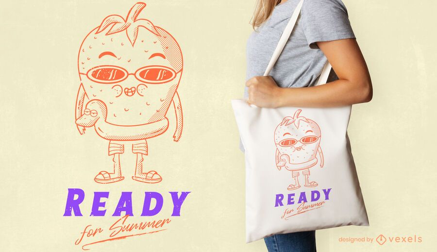 Ready for summer tote bag design
