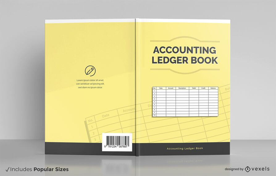 Accounting ledger book cover design