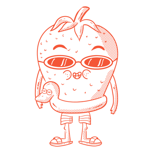 Strawberry summer character Transparent PNG