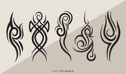 Elementos de tatuagem tribal