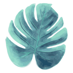 Acuarela de verano de hoja de palma