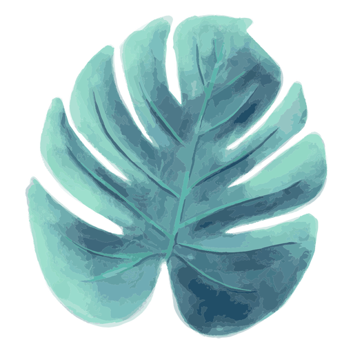 Aquarela de folha de palmeira de verão