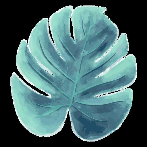 Palm leaf summer watercolor Transparent PNG