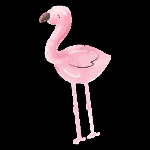 Happy flamingo watercolor
