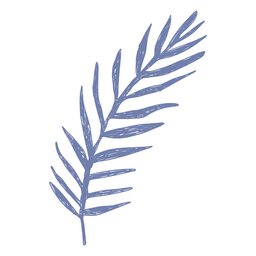 Palm leaf filled-stroke