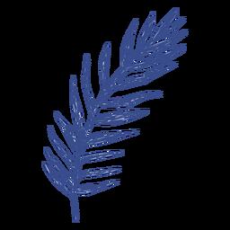 Trazo relleno de hoja de palma