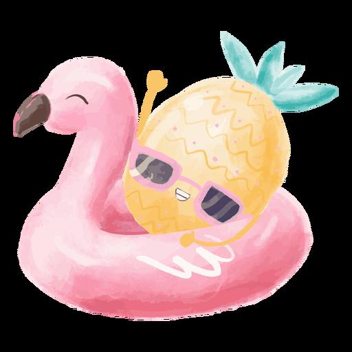 Pineapple summer float watercolor