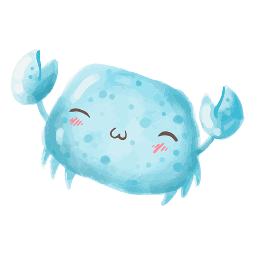 Kawaii crab watercolor