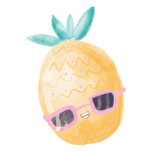 Pineapple sunglasses watercolor