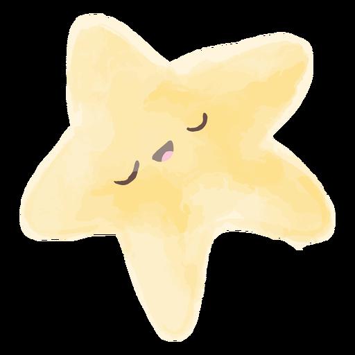 Acuarela estrella de dibujos animados
