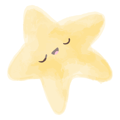 Cartoon star watercolor