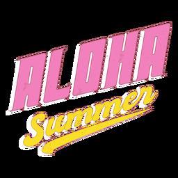 Letras retrô de verão aloha