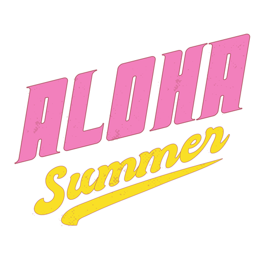 Summer aloha retro lettering Transparent PNG