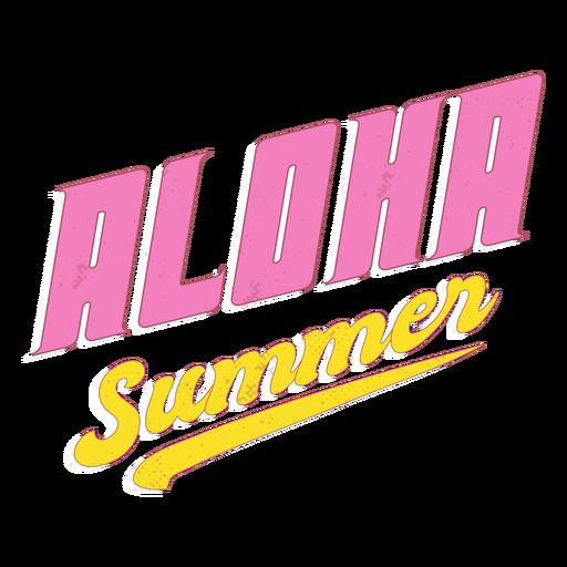 Summer aloha retro lettering