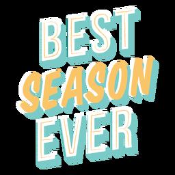 Letras de la mejor temporada de la historia