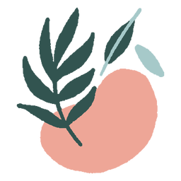 Ramo abstrato orgânico plano