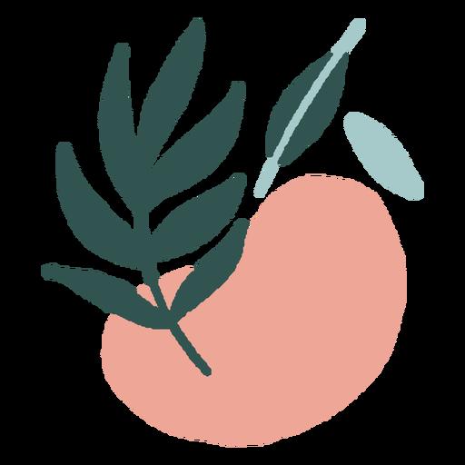 Plano de rama abstracta orgánica