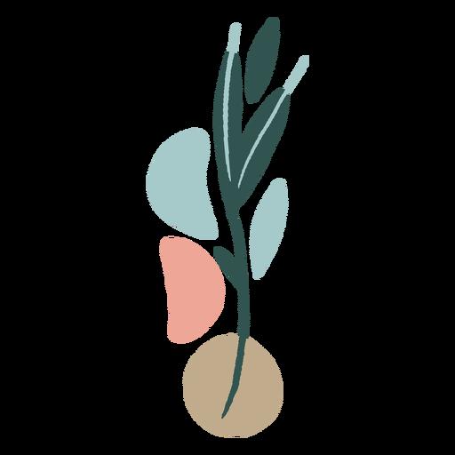 Hojas orgánicas abstractas planas