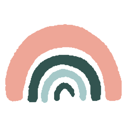 Rainbow organic abstract