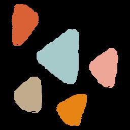 Triangular organic abstract shapes