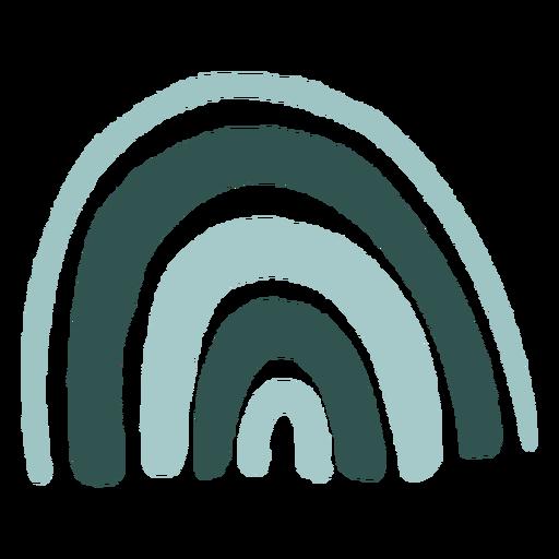 Arco iris plano abstracto orgánico