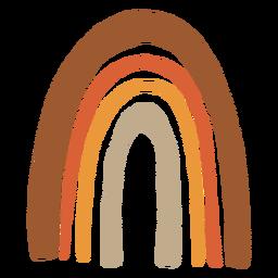 Long rainbow organic abstract