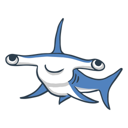 Cute dibujos animados de tiburón martillo