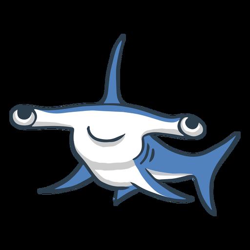Cute dibujos animados de tibur?n martillo