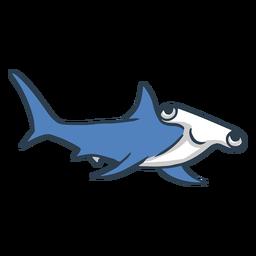 Dibujos animados de tiburón martillo feliz