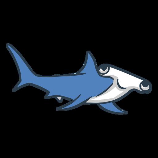 Dibujos animados de tibur?n martillo feliz