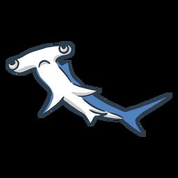 Dibujos animados de tiburón martillo triste