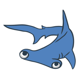 Dibujos animados de animales de tiburón martillo