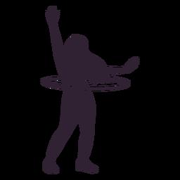 Woman hula hoop silhouette