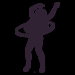 Woman hula hoop hobby silhouette