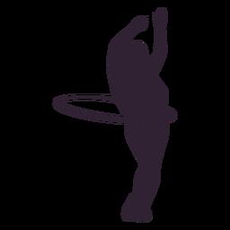 Girl hula hoop hobby silhouette