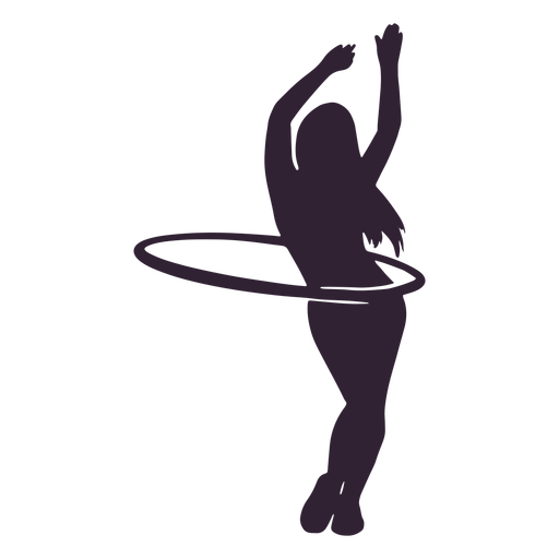 Girl hula hoop hobby silhouette Transparent PNG