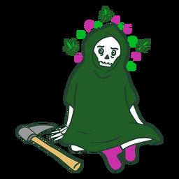 Ceifador em personagem de erva daninha