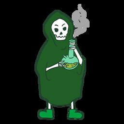 Parca personaje de marihuana de fumar