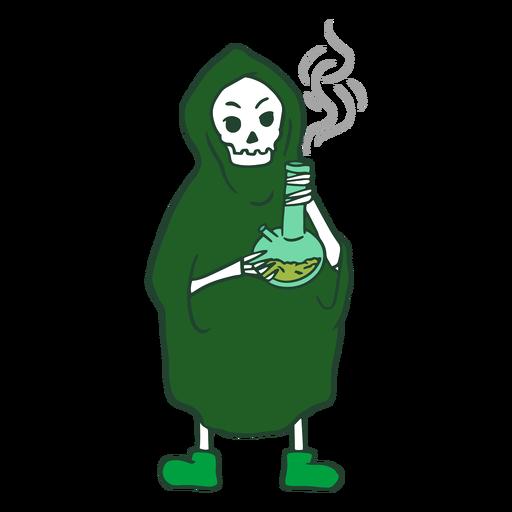 Grim reaper smoking weed character