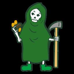 Personaje de brownie de marihuana de la Parca