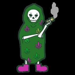Grim reaper fumando personagem