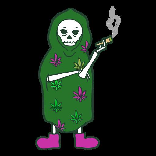 Grim reaper smoking character Transparent PNG